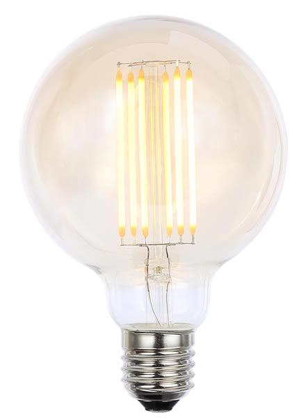 Vintage G95 ES Tinted Dimmable LED Filament Lamp (Light Bulb) 2200K
