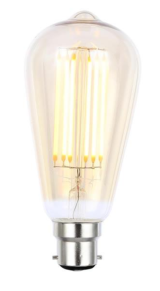 Tinted Dimmable LED Filament Lamp (Light Bulb) 2200K
