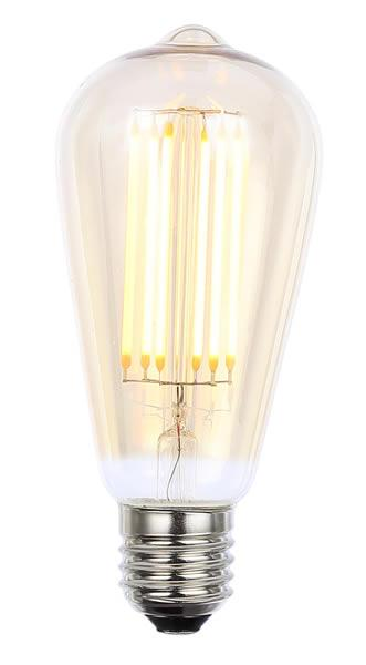 Vintage ST64 ES Tinted Dimmable LED Filament Lamp (Light Bulb) 2200K