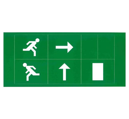 4 In 1 Self Adhesive Stick Legend Kit For 4w LED Emergency Exit Signs