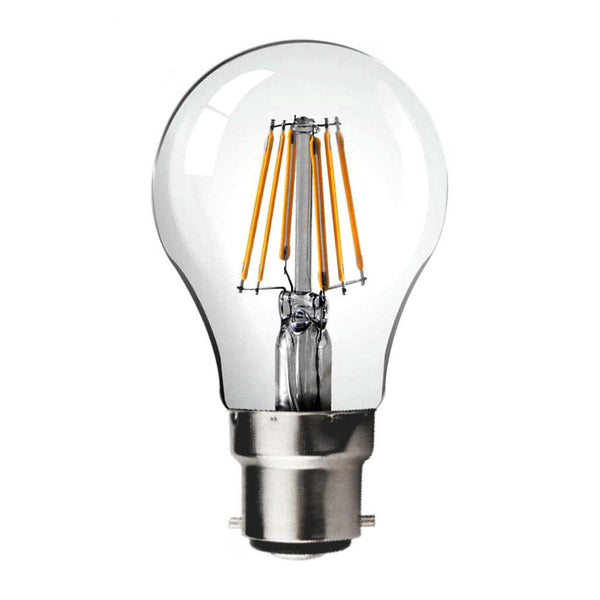 6W LED Filament Light Bulb - B22 Cap Fitting