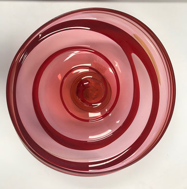 6. Red Irregular Bowl