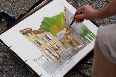 En Plein Air Painting Monjay near LÉpine