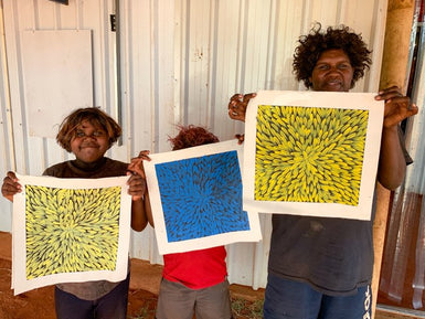 Janelle Ross - Black & Bright Yellow - SELECTED FOR CAMBERWELL ART SHOW