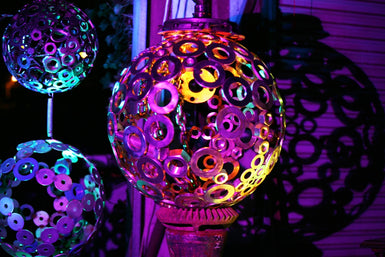 Night Garden Sculptures with Lighting -SOLD