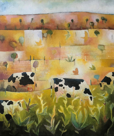 Pete Groves - Landscape with Cows