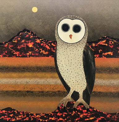 Owl Spirit -Desert Landscape - SELECTED FOR CAMBERWELL ART SHOW