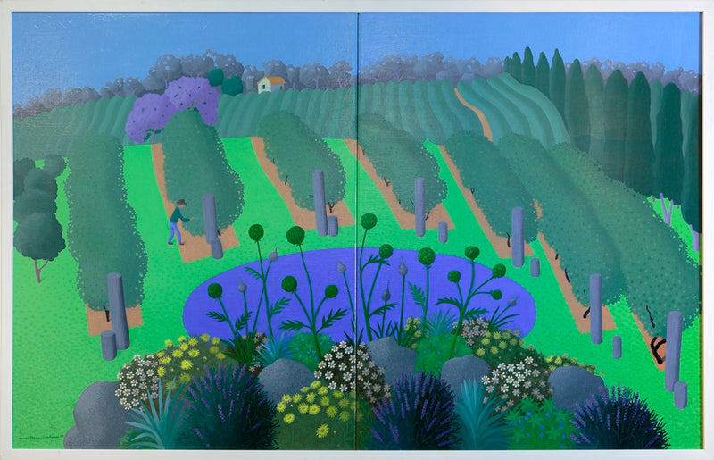 Vineyard with Flowerbed (diptych) 2008