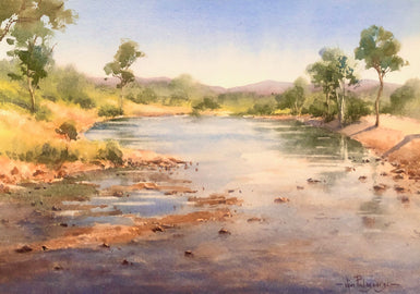 Vivi Palegeorge - Finke river reflections.