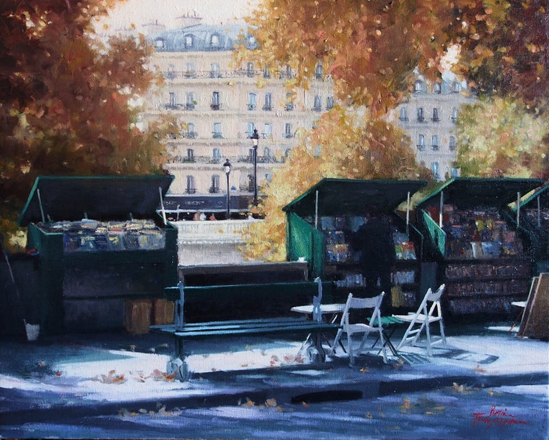 Betina Fauvel-Ogden Les Bouquinistes Along the Seine - Paris SOLD