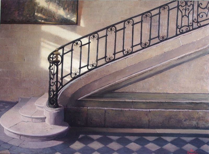 Staircase - The Royal Abbey of Chaalis SOLD