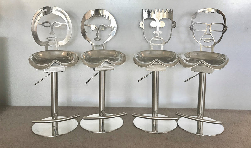 Set of Sculptured Bar Stools