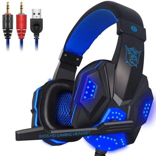 40mm Wired Gaming Headphone with mic led