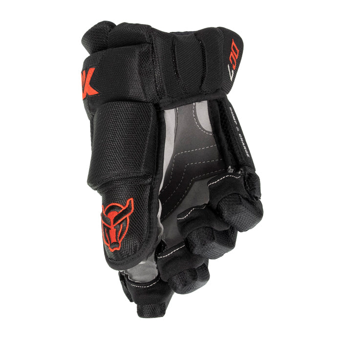 DC7 - Men's Hockey Glove - Black/Red