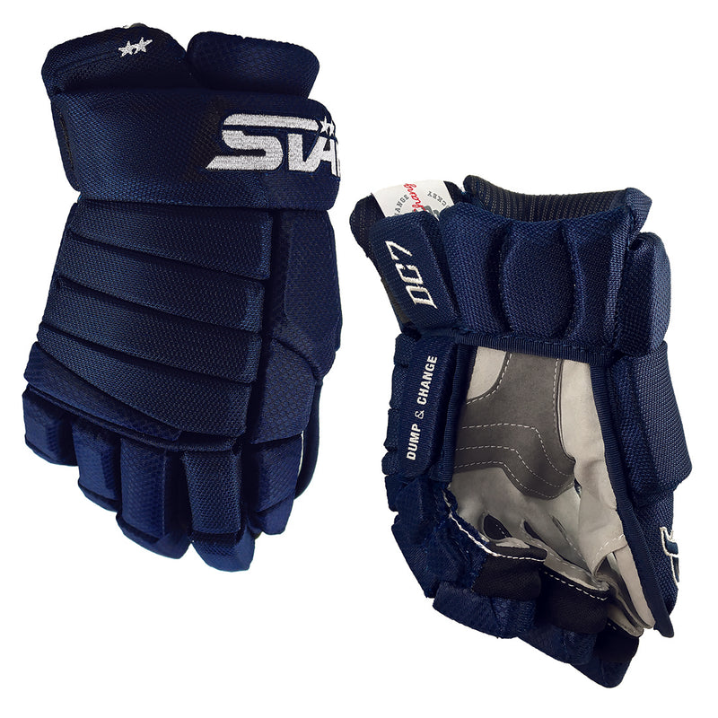 DC7 - Men's Hockey Glove - Navy/Grey
