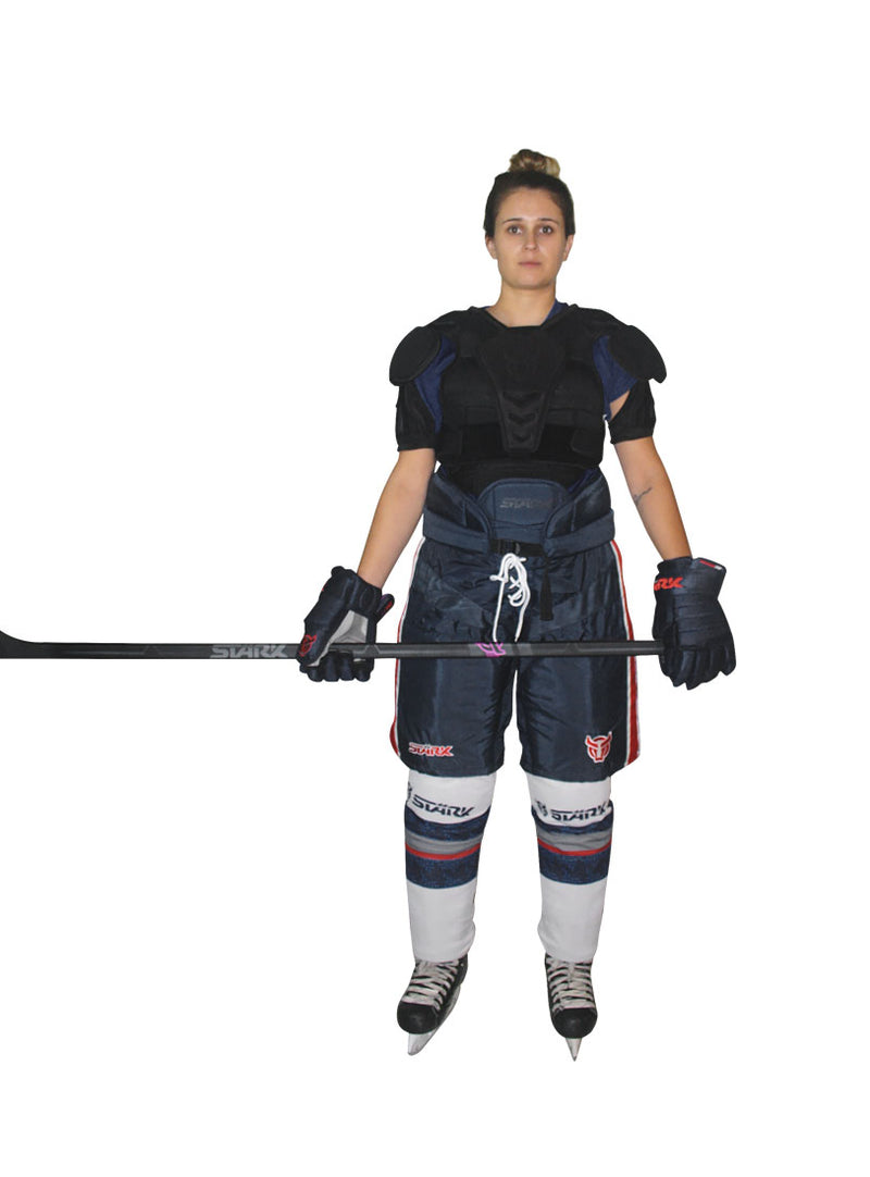 NC7, HOCKEY MFG,  Women's TEAM PANT Black with White/Red stripes