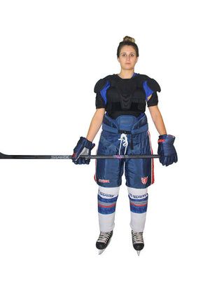 NC7, HOCKEY MFG,  Women's TEAM PANT Navy with White/Red stripes
