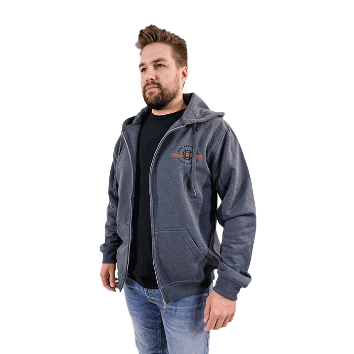 STÄRK D&C – FULLZIP – Dark Heather