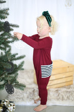 Holiday Kids Bordeaux Romper