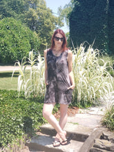 Urban Summer Romper- Black Tie Dye