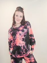 Neon Tie Dye Ribbed Lounge Top- FINAL SALE
