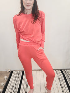 Coral Terry Lounge Jogger