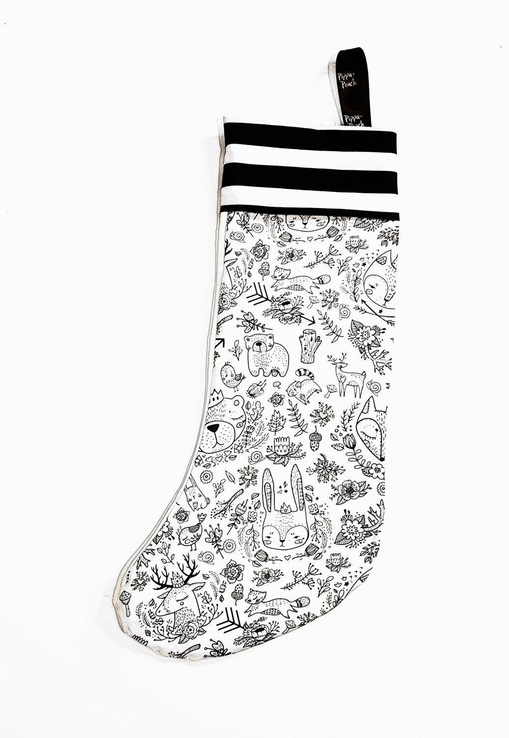 Woodland Animal Scribble Stocking