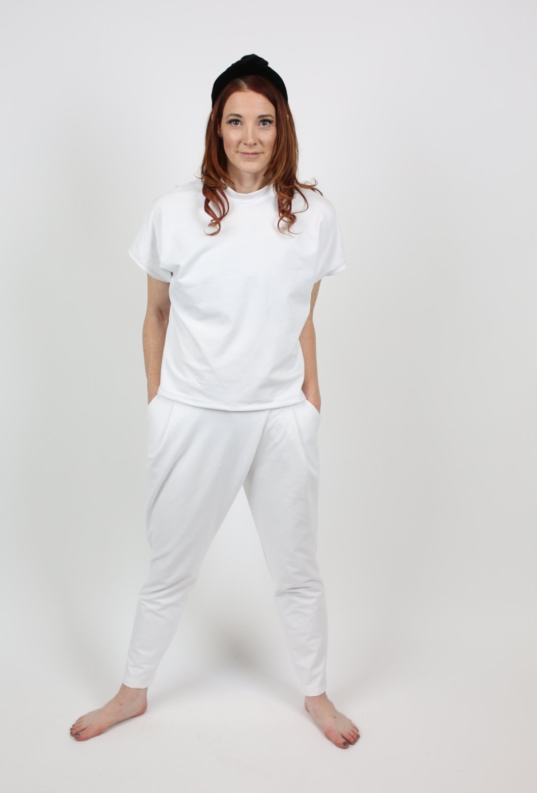 White Wrap Front Trouser