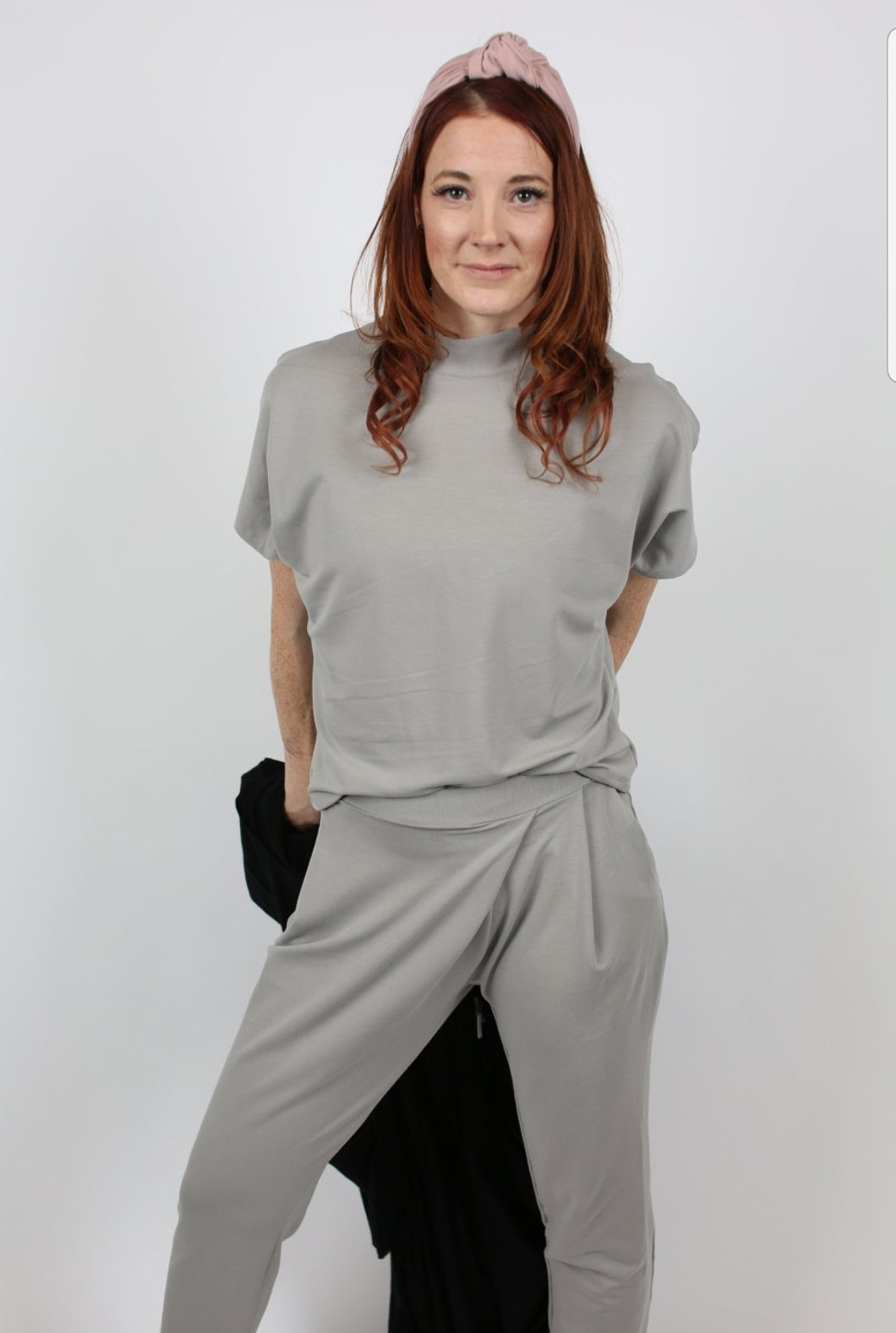 Grey Wrap Front Trouser