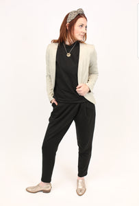 Black Wrap Front Trouser