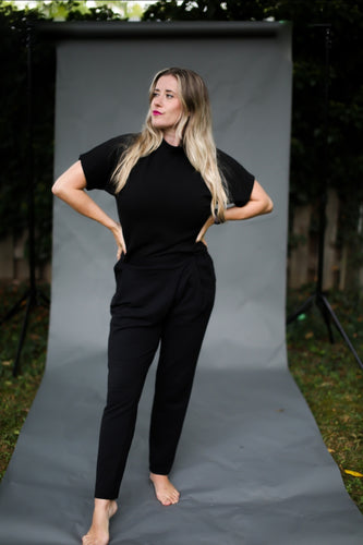 Back to Basics- Black Mock Neck Top