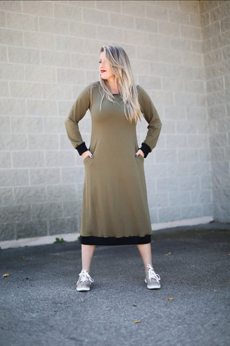 Army Green Weekender Dress