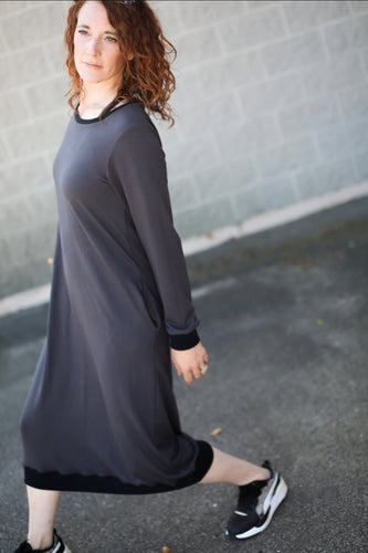 Charcoal Weekender Dress