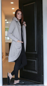 Virtual Hug Cardigan- Cloud Grey
