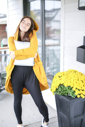 Virtual Hug Cardigan- Mustard