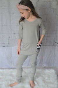 Light Grey Kidboss Romper