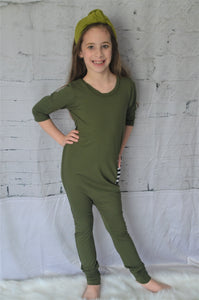 Moss Green Kidboss Romper