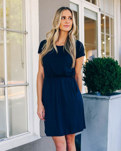 Layla - Short Sleeve Midi Dress