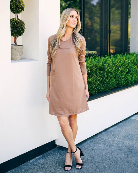 Long Sleeve O-Neck Sweater Dress