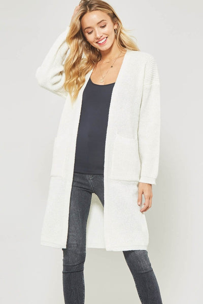 Ella - Drop Shoulder Knit Cardigan