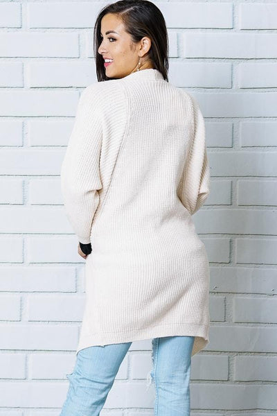 Hazel - Dolman Sleeve Ribbed Cardigan