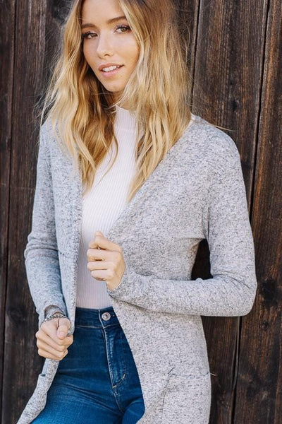 Madison - Long Line Knit Cardigan with Pockets