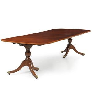 American Classical Style Mahogany Dining Table By Potthast   Benton And  Buckley