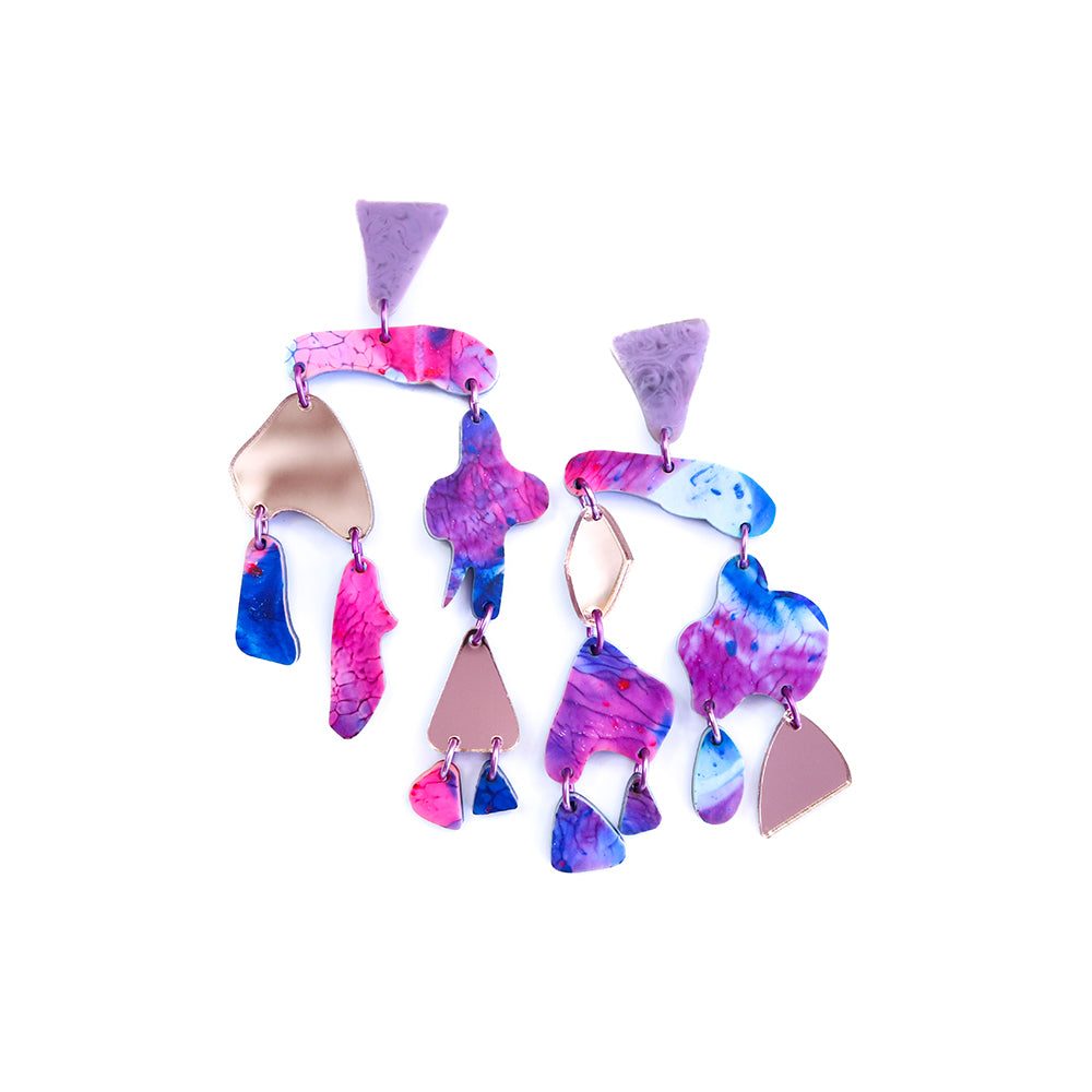 coral chime | pink blue purple