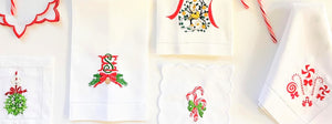 Monogrammed Holiday Table Linens