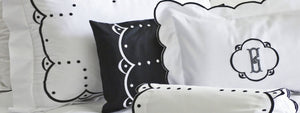 Classic Dots Custom Embroidered Sheets, Shams, Duvet Covers and Coverlets