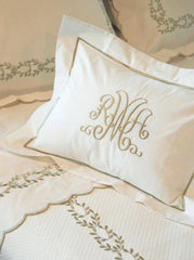 Embroidered Border Bed Linens