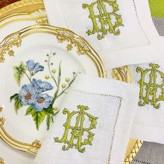 Signature Francesca Monogrammed Napkins-Cocktail Napkins
