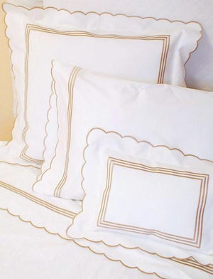 Scallop Embroidered Sheets-Duvet Covers-Bedding