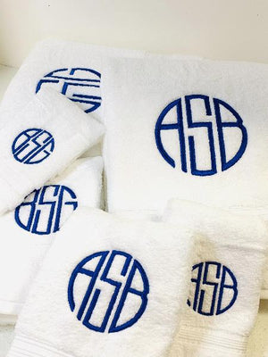 Essentials Monogrammed Bath Towel Collection
